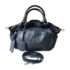 Leather Handbag VANESSA BRUNO Blue, navy, turquoise