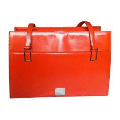 Leather Handbag CÉLINE Orange
