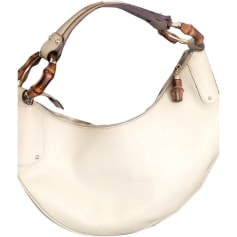 Leather Handbag GUCCI White, off-white, ecru