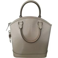 Leather Handbag LOUIS VUITTON Lockit White, off-white, ecru