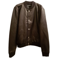Veste en cuir THE KOOPLES Noir