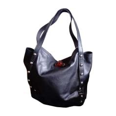Leather Oversize Bag LANVIN Black