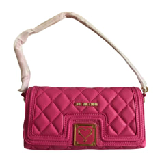 Leather Shoulder Bag MOSCHINO Pink, fuchsia, light pink