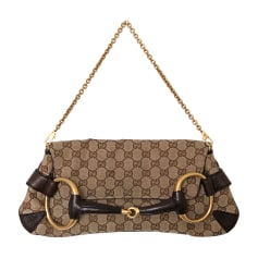 Leather Clutch GUCCI Brown