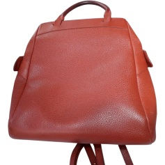 Backpack DELVAUX Red, burgundy