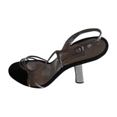 Sandales à talons DOLCE & GABBANA Argenté, acier