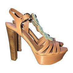 Wedge Sandals SERGIO ROSSI Beige, camel