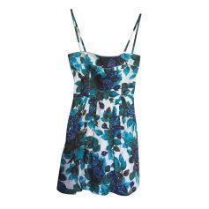 Mini Dress TARA JARMON imprimé fleuri bleu