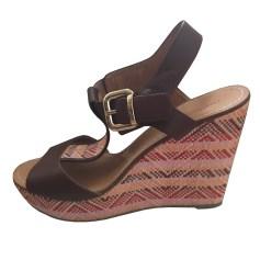 Sandales compensées MELLOW YELLOW Beige, camel