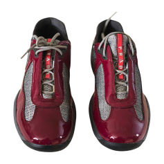 Sneakers PRADA Red, burgundy