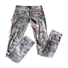 Pantalon droit ISABEL MARANT Rose, fuschia, vieux rose