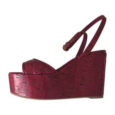 Wedge Sandals SERGIO ROSSI Pink, fuchsia, light pink