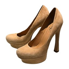 Pumps, Heels YVES SAINT LAURENT Beige, camel