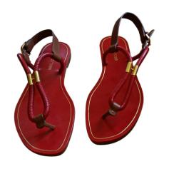 Flat Sandals SERGIO ROSSI Red, burgundy