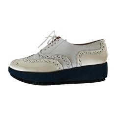 Bottines & low boots à compensés ROBERT CLERGERIE Blanc, blanc cassé, écru