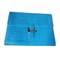 Briefcase, folder LANCEL Blue, navy, turquoise
