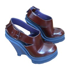 Wedge Sandals KENZO Brown