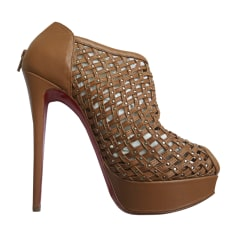 High Heel Ankle Boots CHRISTIAN LOUBOUTIN Brown