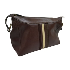 Leather Oversize Bag VERSACE Brown