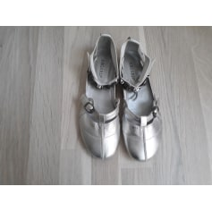 Sandales plates  REGARD Argenté, acier
