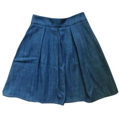 Denim Skirt BA&SH Blue, navy, turquoise