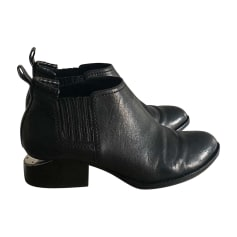 Bottines & low boots plates ALEXANDER WANG Noir