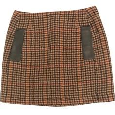 Mini Skirt MAJE Beige, camel