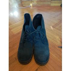 Bottines & low boots à talons KICKERS Bleu, bleu marine, bleu turquoise