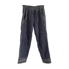 Pantalon droit ISABEL MARANT ETOILE Bleu, bleu marine, bleu turquoise