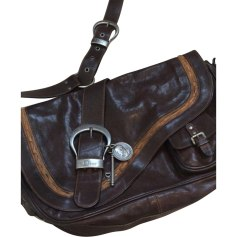 Leather Shoulder Bag DIOR Brown