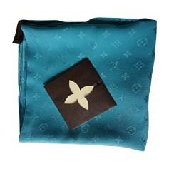 Silk Scarf LOUIS VUITTON Blue, navy, turquoise