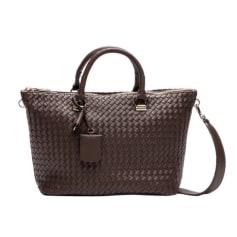Leather Shoulder Bag GUESS Brown