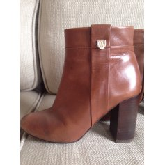 Bottines & low boots plates MASSIMO DUTTI cuir beige 38 Os8EC