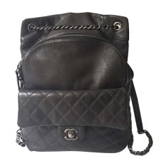 Backpack CHANEL Gray, charcoal