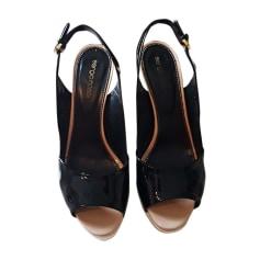 Wedge Sandals SERGIO ROSSI noir blanc beige