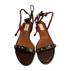 Flat Sandals VALENTINO Brown