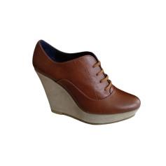 Bottines & low boots à compensés CASTANER Beige, camel
