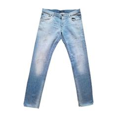 Jeans slim DOLCE & GABBANA Blu, blu navy, turchese