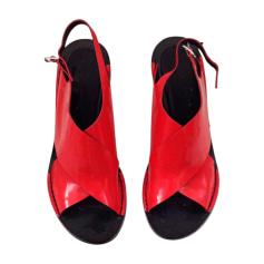 Heeled Sandals ALEXANDER WANG Red, burgundy