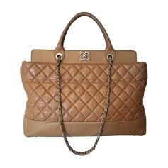Leather Oversize Bag CHANEL Beige, camel
