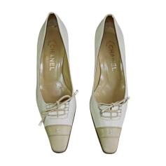 Pumps, Heels CHANEL White, off-white, ecru