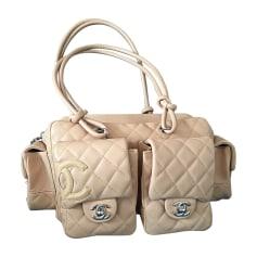 Leather Handbag CHANEL Cambon Beige, camel