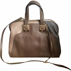 Leather Shoulder Bag FENDI Beige, camel