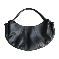 Leather Shoulder Bag ROBERT CLERGERIE Black