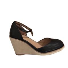 Sandales compensées A.P.C. Noir