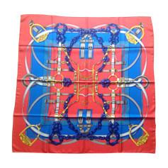 Silk Scarf HERMÈS Carré Rouge et Bleu etc....