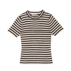 Top, T-shirt SANDRO Rayée beige et bleu marine