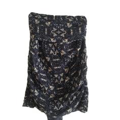 Jupe courte BA&SH Imprimé noir et kaki