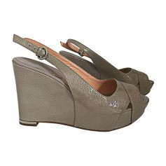 Wedge Sandals SERGIO ROSSI gris lair