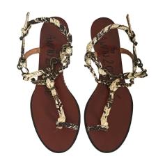 Sandales plates  LANVIN Imprimés animaliers